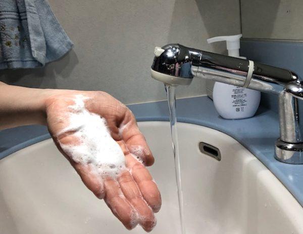 スイサイ酵素洗顔の泡